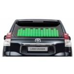 Зеленый автоэквалайзер 90×25см