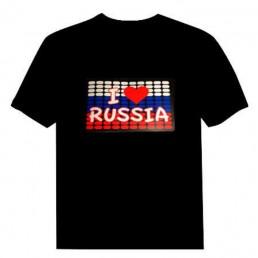 Футболка с эквалайзером Я люблю Россию (I love Russia)
