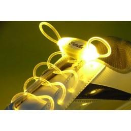 Желтые светящиеся шнурки модель 4