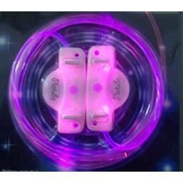 Розовые светящиеся шнурки модель 2