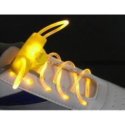 Желтые светящиеся шнурки модель 2