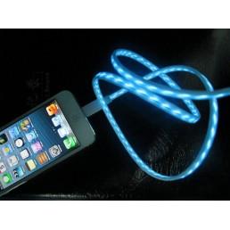 Светящийся USB кабель для iphone 4,4S,5,5S