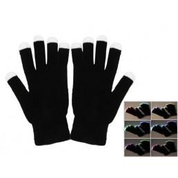 Черные перчатки со светящимися пальцами