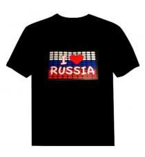 Футболка с эквалайзером Я люблю Россию