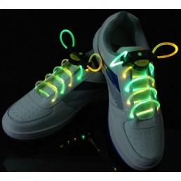 Желто-зеленые светящиеся шнурки