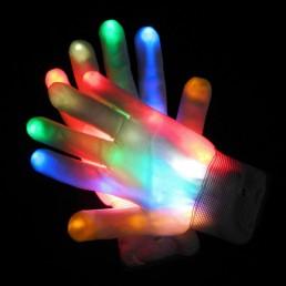 Светящиеся разноцветные перчатки