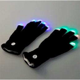 Черные светящиеся перчатки