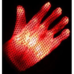 Красные светящиеся перчатки