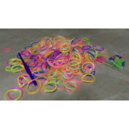 Набор разноцветных светящихся резинок для плетения браслетов