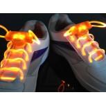 Оранжевые светящиеся шнурки модель 2