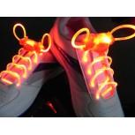 Красные светящиеся шнурки модель 2