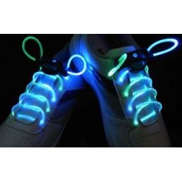 Сине-зеленые светящиеся шнурки
