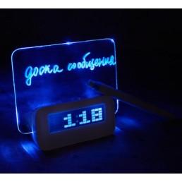 LED будильник  - светящаяся доска для записей