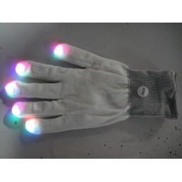Белые перчатки со светящимися пальцами